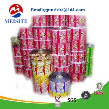 Film de bobine en plastique laminé pour film d'emballage en plastique automatique Jelly en rouleau