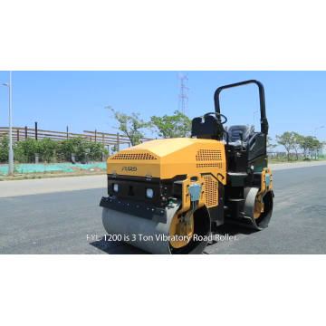 Tandem Steel Drum Roller Machine For Road Construction