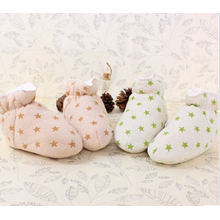 Warm Soft Organic Cotton Baby Shoes with Fancy Design