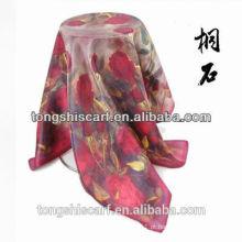 impressão digital design personalizado de seda lenço Tongshi fornecedor alibaba china 2015