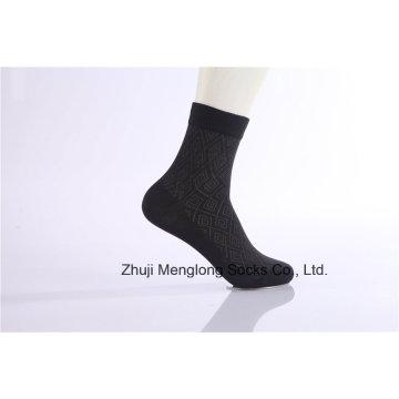 Classic Diamond Design Men vestir calcetines de algodón