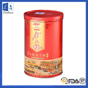 Round Wine Bottle Metal Packaging Boxes