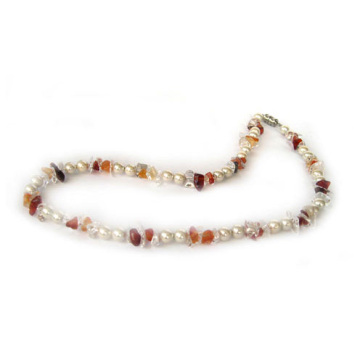 Pearl colour Hematite necklace