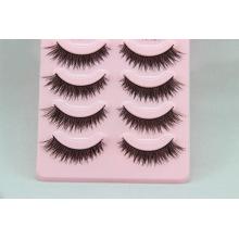 Custom Private Label Human Hair Cheap Sale Colorful False Eyelashes