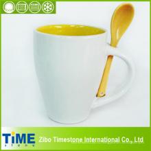 Керамическая чашка кофе с ложкой (КС-001)