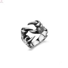 Heißer Verkauf Pfote Ring Schmuck, maßgeschneiderte Edelstahl Ring
