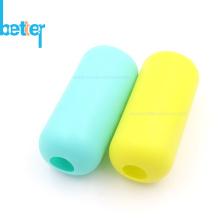 Funda de botella de agua de vidrio para bebé de silicona con aislamiento térmico
