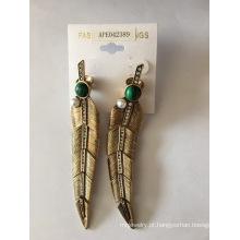 Folha forma brinco joias moda Verão de alta qualidade