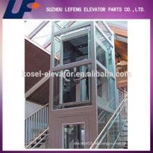 Estable y bajo nivel de ruido Ascensor panorámico de cristal doméstico con buena calidad