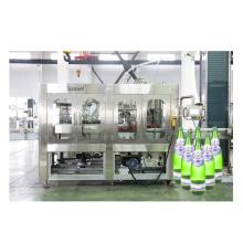 Máquina de embalagem e selagem de enchimento de garrafas de vidro