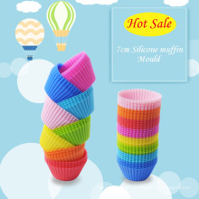 Mass Orders Hot Cute Food Grade Silicone Muffin Mould Baking Cup