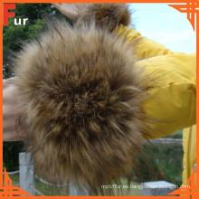 Accesorios de ropa Puf de piel de mapache
