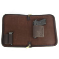 TOURBON wholesale canvas leather Gun Concealment Organizer, Planner Holster, File style pistol holder