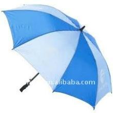 blaue und weiße Regenschirm