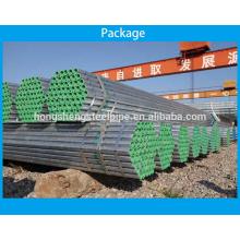 A53 estándar Tubo de acero estructural galvanizado