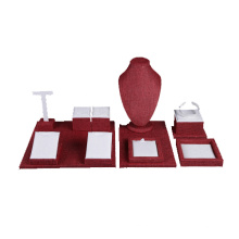 Ensemble de présentoir de bijoux en lin en gros (WST-LW3)
