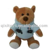 plush&stuffed teddybear with sport coat,soft animal toy