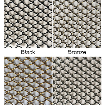 Metal architectural wire mesh