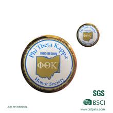 Metal Printed Company Logo Round Lapel Pin for Name Badge