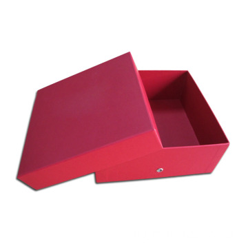 Red Kraft Paper Box Women Shoe Packaging