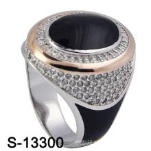 Кольцо с эмалью для ювелирных изделий из серебра 925 пробы.