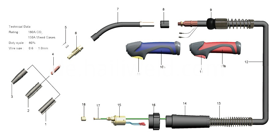 15ak Air Cooled Mig Welding Torch