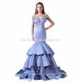 2017 новый дизайн элегантный дешевые Cap рукавом глубокий V шеи русалка девушки платье невесты