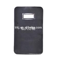 Escudo balístico negro rentable NIJ nivel 3 para ejército / minitarro