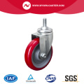 Light 4 Zoll 80Kg Threaded Swivel TPU Caster
