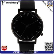 Yxl-342 Customized Logo Stainless Steel Leather Quartz Watch Luxury Men Watches Simple Design Fashion Vogue Wrist Watch Mens