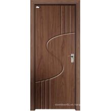 Puerta ambiental del PVC de la puerta verde del MDF para el dormitorio