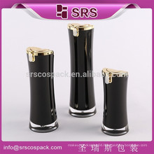 China factory acrylic cosmetic bottles for lotion, balck plastic empty cosmetic container