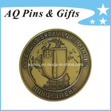 Moneda del desafío de la alta calidad con la galjanoplastia de oro antigua (coin-088)
