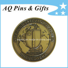 High Quality Challenge Coin with Antique Gold Plating (coin-088)