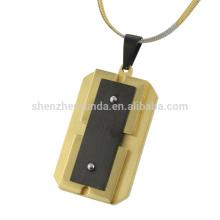 Novo design em aço inoxidável pingente de ouro barato banhado para homens