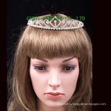 Мини новый дизайн короне девочек тиара для партии
