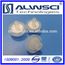 2014 vente chaude 13mm Filtres à seringues Filtre hydrophile PTFE 0.22um pore size