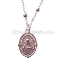 Fashion Simple Matt Silver Rosary Chain Necklace