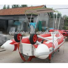 casco de fibra de vidro do barco de costela de luxo HH-RIB380 com CE