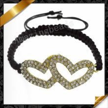 Heart Love Bracelet Bijoux Vente en gros Bracelets pour Femmes Cadeau (FB068)