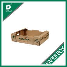 Bandeja de empaquetado durable del papel acanalado de la fruta de la exhibición de la alta calidad