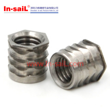 Écrou d'insertion fileté en acier inoxydable en Chine