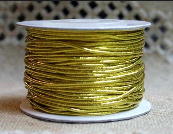 Wholesale Cheap Braided Gold Metallic Elastic Cord