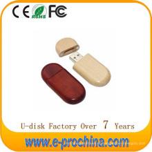 Movimentação de madeira do flash de USB da venda quente com o ambiental para a amostra grátis