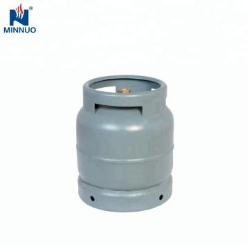 Cilindro de gás do lpg do tamanho 3kg mini, tanque de propano, garrafa de gás