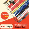 Retractable ID Card/Badge Holder/Reel Printed Custom Lanyards for Sale