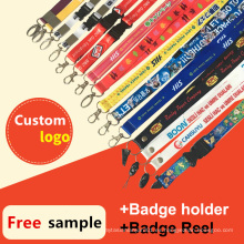 Retractable ID Card / Badge Holder / Reel impreso Custom Lanyards para la venta