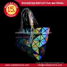 Reflective rainbow color women bag