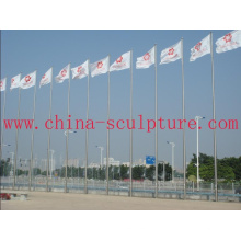 2016 New Modern Sculpture High Quality Fashion Urban Statue Stainless Steel Flagpole