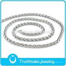 Chaînes de cou en gros en acier inoxydable 316 différents types de chaînes de collier bijoux